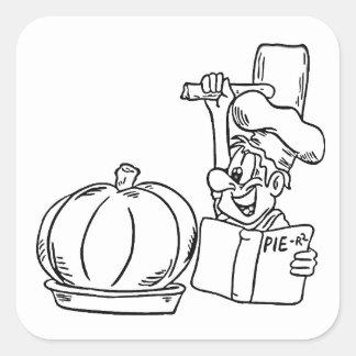 Making Pie Square Sticker