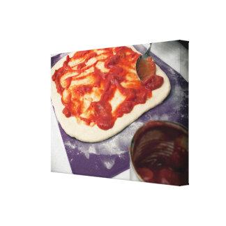 Making pizza canvas print