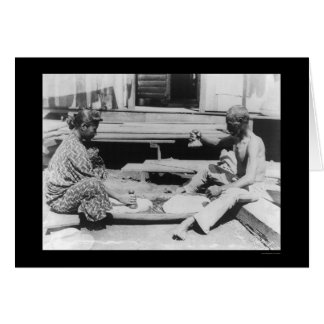 Making Poi in Hawaii 1908 Card