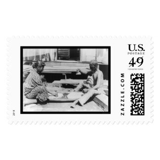 Making Poi in Hawaii 1908 Postage Stamp