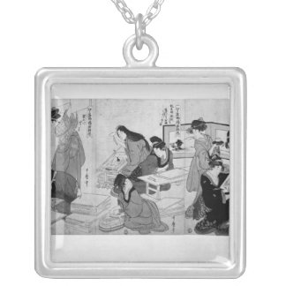 Making prints silver plated necklace