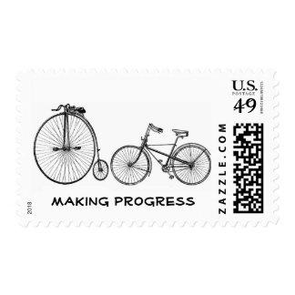 Making progress bicycles postage