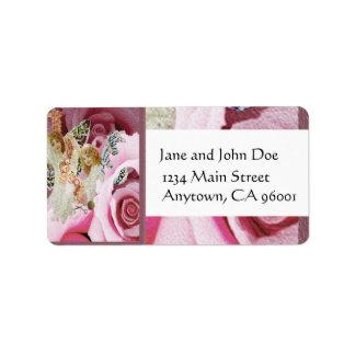 Making Rose Necklaces Custom Address Label