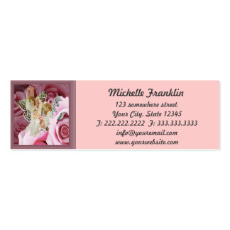 Making Rose Necklaces Mini Business Card
