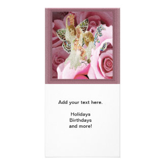 Making Rose Necklaces Photo Card