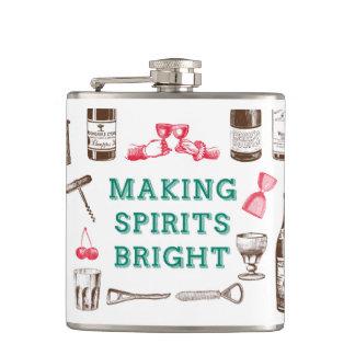 Making Spirits Bright Christmas Flask