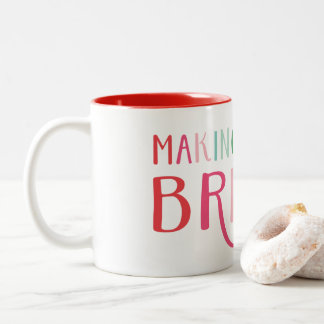 Making Spirits Bright Christmas Holiday Two-Tone Coffee Mug