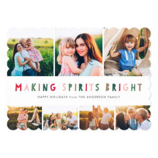 Making Spirits Bright Collage Holiday 7 Photo Card