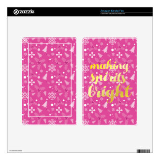Making Spirits bright Decals For Kindle Fire