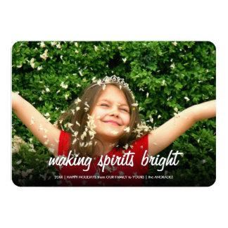 Making Spirits Bright Flat Holiday Photo Christmas Card