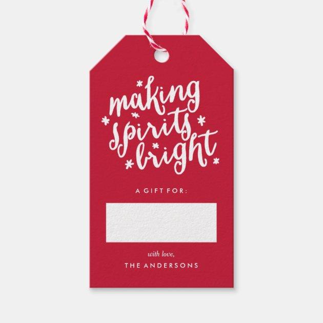 making spirits bright gift tags