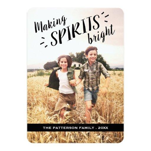 Making Spirits Bright Hip Holiday Photo Card