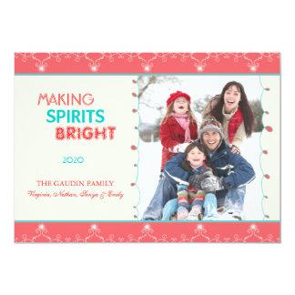 Making Spirits Bright Holiday Family Photo Card