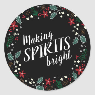 Making Spirits Bright Holiday Garland Sticker