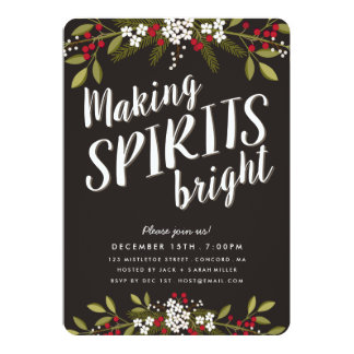 Making Spirits Bright Holiday Party Invitation
