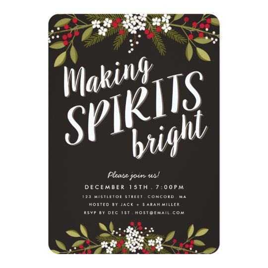 making spirits bright holiday party invitation zazzle com