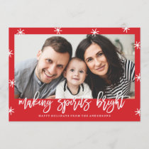 Making Spirits Bright | Holiday Photo Card