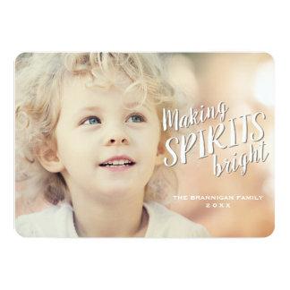 Making Spirits Bright Holiday Photo Card