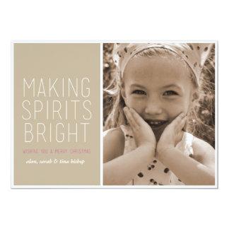 Making Spirits Bright - Holiday Photo Greeting Card