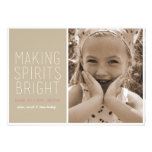 Making Spirits Bright - Holiday Photo Greeting Custom Invitations