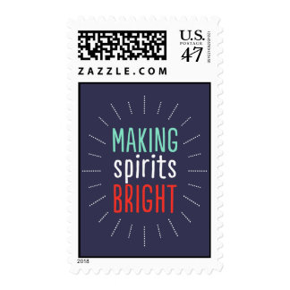 Making Spirits Bright Holiday Postage