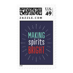 Making Spirits Bright Holiday Postage