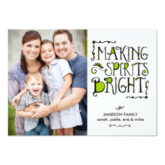 Making Spirits Bright in Lime Holiday Card