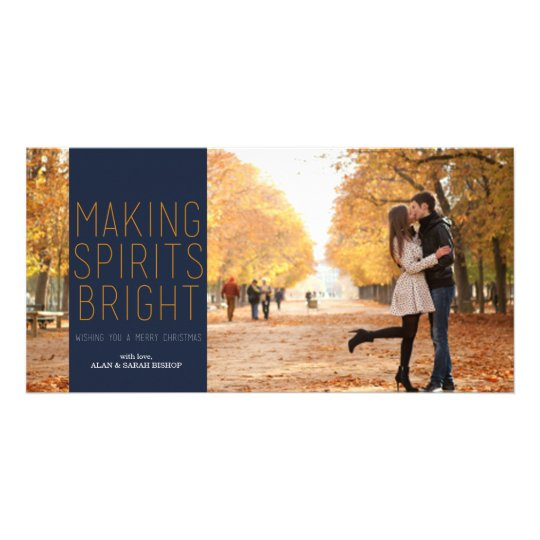 Making Spirits Bright - Navy and Fuschia Card