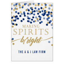 Making Spirits Bright Navy Company Holiday Card