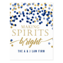 Making Spirits Bright Navy Company Holiday Postcard