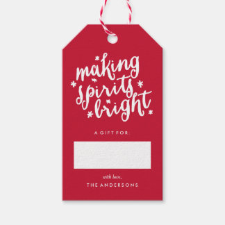 Making Spirits Bright Pack Of Gift Tags