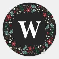 Making Spirits Bright Personalized Holiday Sticker
