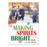 Making Spirits Bright Photo Card Personalized Announcements