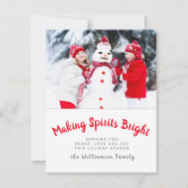 Making Spirits Bright Photo Christmas Holiday Card
