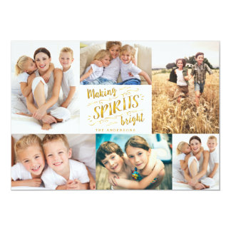 Making Spirits Bright Photo Collage Card