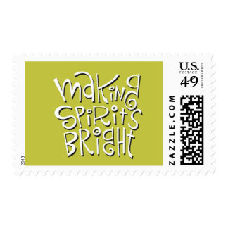 Making Spirits Bright Postage Stamps