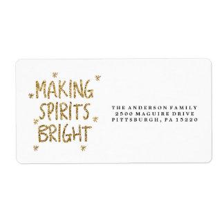 MAKING SPIRITS BRIGHT Return Address Label