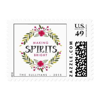 Making Spirits Bright Wreath Holiday Stamps