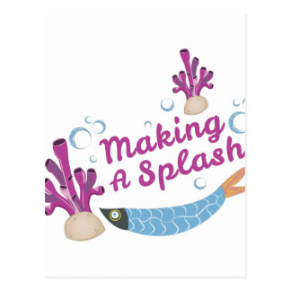 Making Splash Postcard