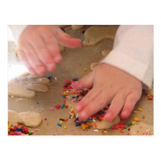 Making Sugar Cookies Postcard