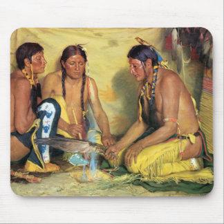 Making Sweetgrass Medicine, Blackfeet Ceremony Mouse Pad