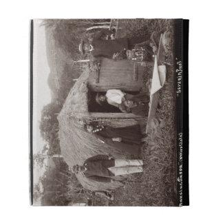 Making Tappa, a native cloth, c.1875 (sepia photo) iPad Folio Covers