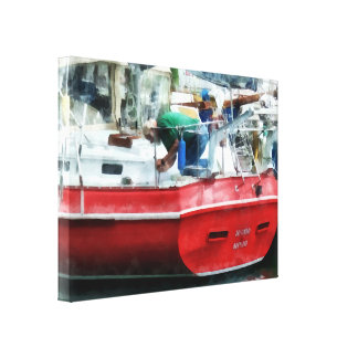 Making the Boat Shipshape Canvas Print