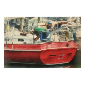 Making the Boat Shipshape Wood Print