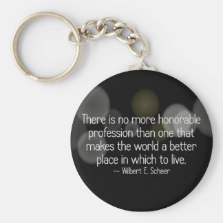 Making the world a better place (2) basic round button keychain