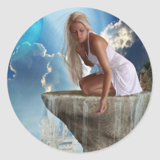 Making Waterfalls (Stickers) Classic Round Sticker
