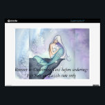 "Making Wishes Mermaid Laptop Skin Camille Grimshaw<br><div class=""desc"">Featuring Making Wishes by watercolor artist Camille Grimshaw Find more about me and my art at www.camillioncreations.com &#169; Camille Grimshaw of Camillion Creations</div>"