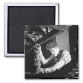 Making WW2 Half-Tracks, 1941 2 Inch Square Magnet