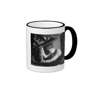 Making WW2 Half-Tracks, 1941 Ringer Coffee Mug