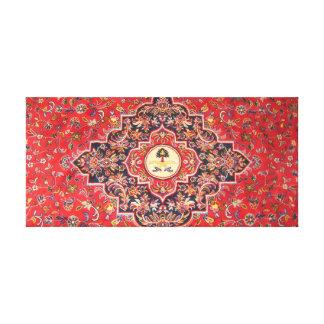 Makkah Mats pattern Stretched Canvas Print